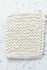 Iris Hantverk Swedish Linen and Cotton Kettle Holder - White