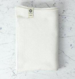 Iris Hantverk Swedish Knitted Cotton Bath Towel - White