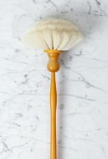 Long Handled Round Goat Hair Dust Brush - 31.5""
