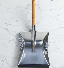 Stainless Steel Dust Pan with Beechwood Handle