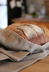 Natural Linen Bread Bag - Square