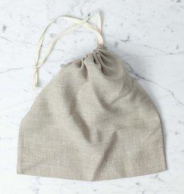 Lakeshore Linen Natural Linen Bread Bag - Square