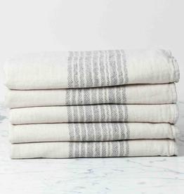 Flax Line Bath Towel - Brown + Beige