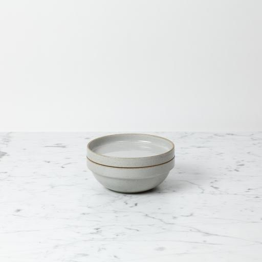 "PREORDER Hasami Porcelain Round Bowl - Small - Gloss Grey - 5 1/2"" x 2"""
