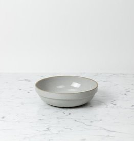 "Hasami Porcelain Round Bowl - Medium - Gloss Grey - 7 1/4"" x 2"""