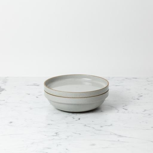 "Hasami Porcelain Round Bowl - Medium - Gloss Grey - 7 1/4"" x 2"""