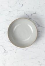 "PREORDER Hasami Porcelain Round Bowl - Medium - Gloss Grey - 7 1/4"" x 2"""