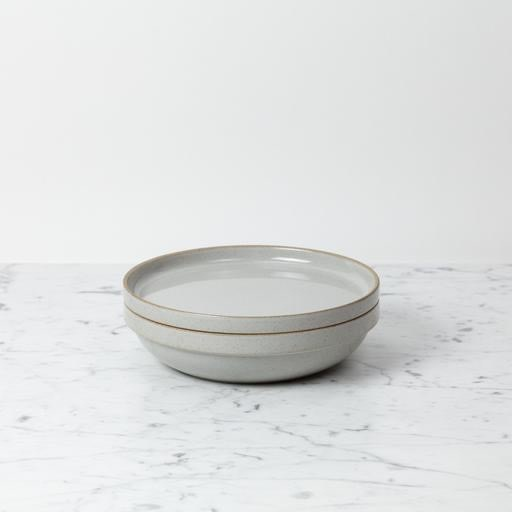 "Hasami Porcelain Round Bowl - Large - Gloss Grey - 8 1/2"" x 2"""