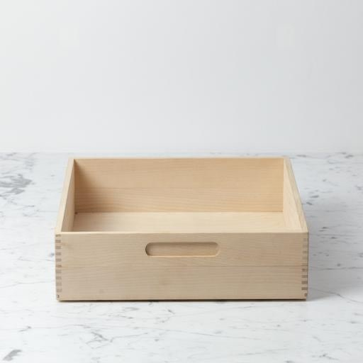 Iris Hantverk Swedish Birch Storage Box - 12 in. L x 12 in. W x 3.5 in. H