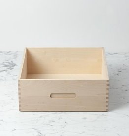 Iris Hantverk Swedish Birch High Bread Box - 12 in. L x 12 in. W x 5 in. H