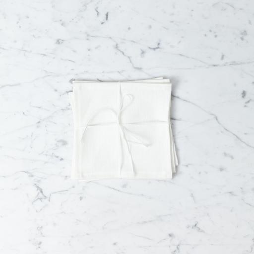 Lakeshore Linen Lakeshore Linen Snack Napkin - White - 8 x 8 in.