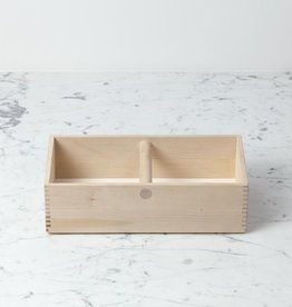 Iris Hantverk Swedish Birch Storage Box Caddy Tote with Handle - 12.25 in. L x 6 in. W x 3.5 in. H