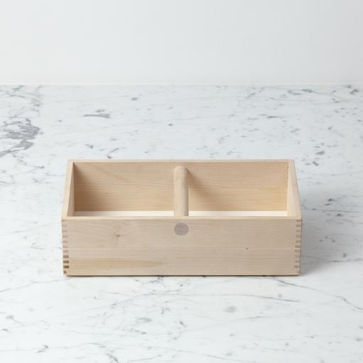 Iris Hantverk Swedish Birch Storage Box Caddy Tote with Handle - 12.25 in. L x 6 in. W x 3.5 in. H