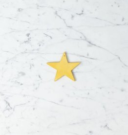 Ostheimer Toys German Hand Carved Star Ornament - Yellow