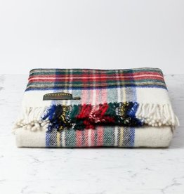 "Traditional Highland Tartan Wool Throw - Dress Stewart - 60"" x 72"
