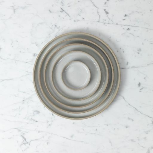 "Hasami Porcelain Plate - Tiny - Gloss Grey - 3 1/4"" x 3/4"""
