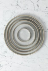 "Hasami Porcelain Plate - Small - Gloss Grey - 7 1/4"" x 3/4"""