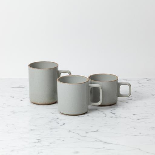 "Hasami Porcelain Mug - Large - Gloss Grey - 3 1/4"" x 4"""