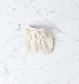Knitted Wool Baby Shoes in White