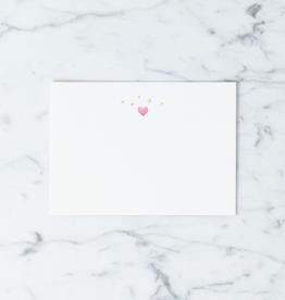 Pomegranate Press Letterpress Card and Envelope - Starry Hearts
