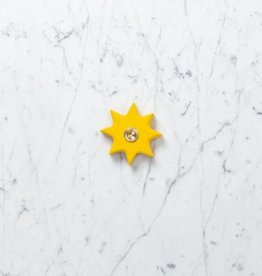 Grimm's Toys Wooden Lifelight Star Candle Holder - Yellow