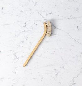 Iris Hantverk Swedish Long Handled Curved Dish Brush - Soft Horsehair