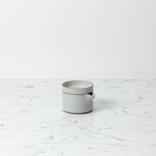 "Hasami Porcelain Creamer - Gloss Grey - 3 1/4"" x 2"""