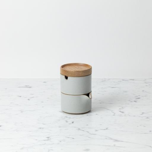 """PREORDER Hasami Porcelain Sugar Bowl - Gloss Grey - 3 1/4"""" x 2"""""""