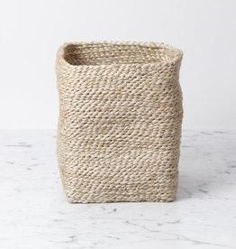 "Moroccan Jute Tall Storage Basket 7.5"" H x 6"" W (approx.)"
