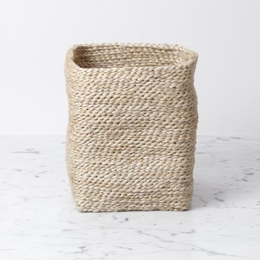 "Moroccan Jute Tall Storage Basket 7.5"" H x 6"" W (approx.)"