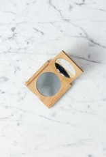 Beechwood Pocket Folding Compact Mirror