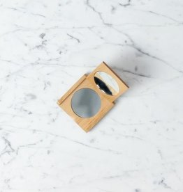 Beechwood Pocket Folding Compact Mirror