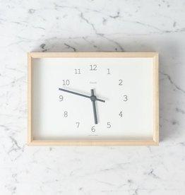 Kaede Clock - White