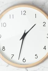 Campagne Clock - Natural Beech