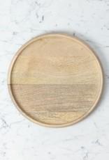 "Natural Mango Wood Round Platter Medium - 11"""
