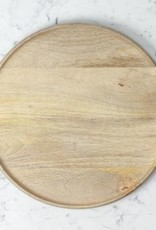 Natural Mango Wood Round Platter - Large - 14""