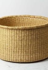 Swahili Imports Natural Woven Grass Floor Basket - Medium