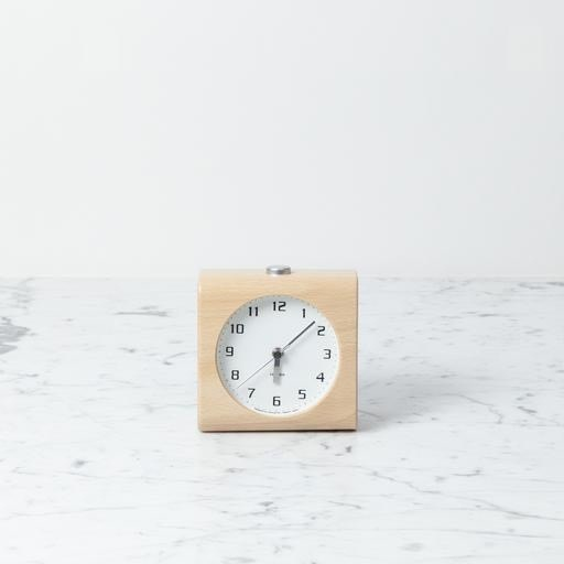 Block Alarm Clock - White
