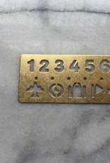 Brass Template Bookmark - Numbers and Symbols