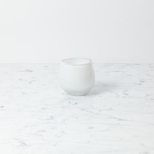"Tiny Clovis Vessel - White - 3 1/2"""