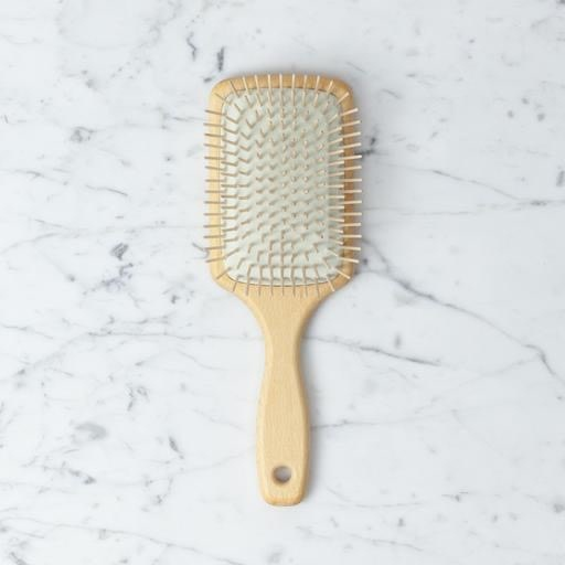 Beech and Maple Paddle Hair Brush - 10""