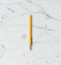 """JPT America Tiny Wooden Mechanical Pencil with Clip - Short - Yellow - 4"""""""