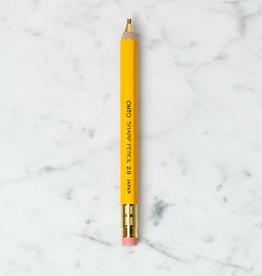 Ohto Wood Mechanical Pencil - Fat - Yellow