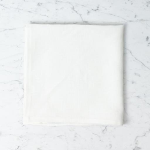 Lakeshore Linen Square Tea Towel - White - 22 x 22 in.