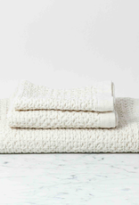 Japanese Lattice Waffle Hand Towel - Cotton + Linen - Ivory