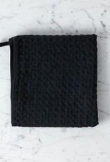 Japanese Lattice Waffle Hand Towel - Cotton + Linen - Charcoal