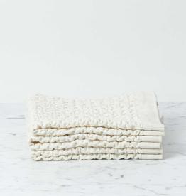Morihata Lattice Waffle Washcloth - Cotton + Linen - Ivory