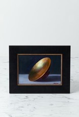 "Tony Brenny Gold Leaf Bowl Painting - 5 x 7"" - Oil on Panel"