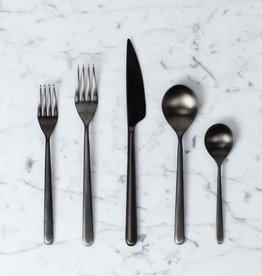Italian Linea 5 Piece Place Setting - Ice Oro Nero
