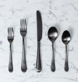 Italian Natura 5 Piece Place Setting - Ice Oro Nero